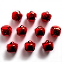 Cat Bells Sleigh Jingle Bells 8mm Red Pack of 10