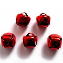 Cat Bells Sleigh Jingle Bells 8mm Red Pack of 5