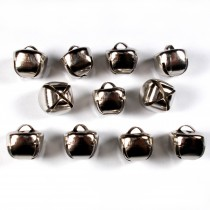 Cat Bells Sleigh Jingle Bells 12mm Silver Pack of 10
