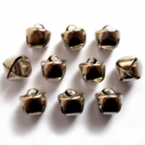 Cat Bells Sleigh Jingle Bells 12mm Silver Pack of 10