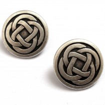 Celtic Knot Round Shank Buttons 19mm Silver Pack of 2