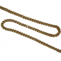 Decorative Metal Chain 5mm Wide Gold 1 Metre