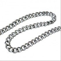 Decorative Metal Chain 5mm Wide Silver 1 Metre