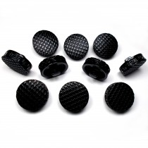Chunky Black Coat Buttons with Greek Key Edge 22mm Pack of 10