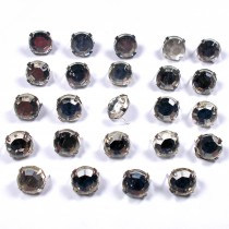 Clip on Clear Crystal Effect Diamante Studs 7mm Pack of 24