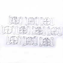 Clover Bikini Clasp Fastener Clear Transparent 34mm x 24mm Pack of 10