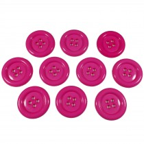 Large Round Clown Buttons 4 Hole 50mm Pink Pack of 10