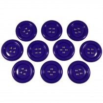 Large Round Clown Buttons 4 Hole 50mm Purple Pack of 10