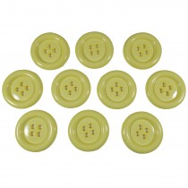 Large Round Clown Buttons 4 Hole 50mm Yellow Pack of 10