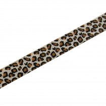 Leopard Animal Print Grosgrain Ribbon Thin 16mm wide Beige 1 metre length