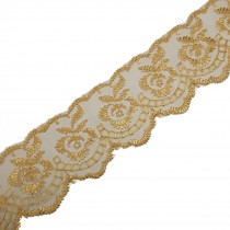 Colour Lace 45mm Wide Beige 1 metre length