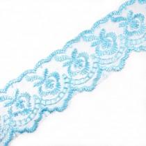 Colour Lace 45mm Wide Pale Blue 1 metre length