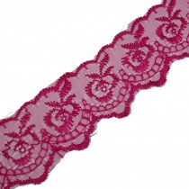 Colour Lace 45mm Wide Pink 1 metre length
