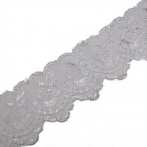 Colour Lace 45mm Wide White 1 metre length