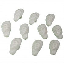 Colourful Plastic Skull Shaped Buttons 17mm x 10mm White Pack of 10