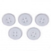 Colour 4 Hole Round Shirt Buttons 11mm White Pack of 5