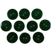 Colour Dark Glitter Buttons 12mm Green Pack of 10