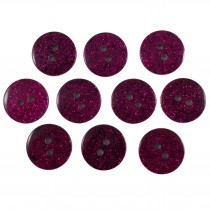 Colour Dark Glitter Buttons 12mm Pink Pack of 10
