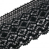 Cotton Lace 10cm Wide Black 1 metre length