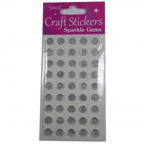 Craft Stickers 8mm Large Round Diamante Cluster