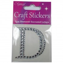 Craft Stickers Diamante Letters 5cm D Pack of One