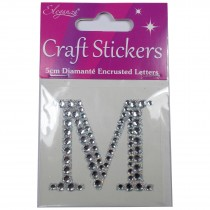 Craft Stickers Diamante Letters 5cm M Pack of One