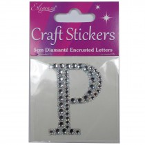 Craft Stickers Diamante Letters 5cm P Pack of One