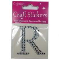 Craft Stickers Diamante Letters 5cm R Pack of One