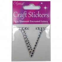 Craft Stickers Diamante Letters 5cm V Pack of One