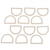 White Plastic D Rings 33mm Pack of 12