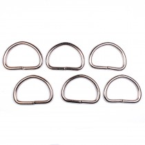 Silver Metal D Rings 47mm Pack of 6