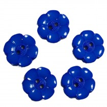 Large Daisy Flower Feature Button 22mm Blue Pack of 5