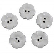 Large Daisy Flower Feature Button 22mm Cream Pack of 5