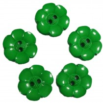 Large Daisy Flower Feature Button 38mm Green Pack of 5
