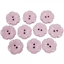 Large Daisy Flower Feature Button 22mm Pale Pink Pack of 10