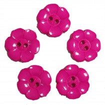 Large Daisy Flower Feature Button 38mm Pink Pack of 5
