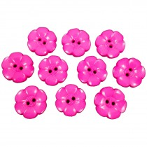 Large Daisy Flower Feature Button 22mm Pink Pack of 10