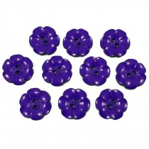 Large Daisy Flower Feature Button 22mm Purple Pack of 10