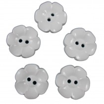 Large Daisy Flower Feature Button 38mm White Pack of 5