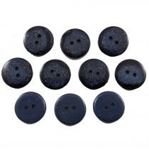 Dark Glitter Buttons 15mm Blue Pack of 10