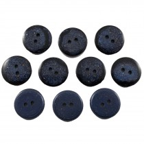 Dark Glitter Buttons 25mm Blue Pack of 10