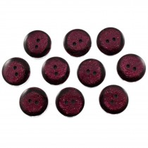 Dark Glitter Buttons 15mm Burgundy Pack of 10