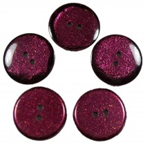 Dark Glitter Buttons 25mm Burgundy Pack of 5