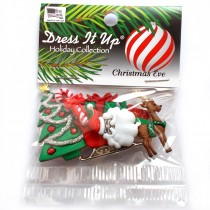 Dress it Up Buttons - Christmas Eve