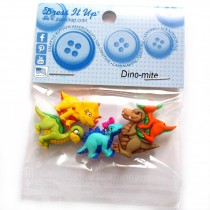 Dress it Up Buttons - Dino-mite