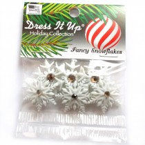 Dress it Up Buttons - Fancy Snowflakes