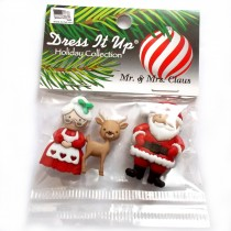 Dress it Up Buttons - Mr and Mrs Claus