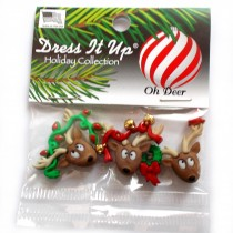 Dress it Up Buttons - Oh Deer