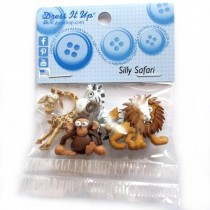 Dress it Up Buttons - Silly Safari
