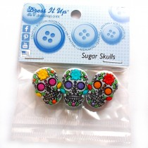 Dress it Up Buttons - Sugar Skulls